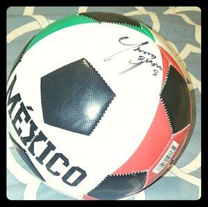 Signed Omar Bravo Soccer ball